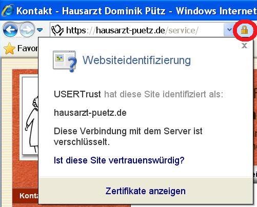 SSL-Anzeige im Browser